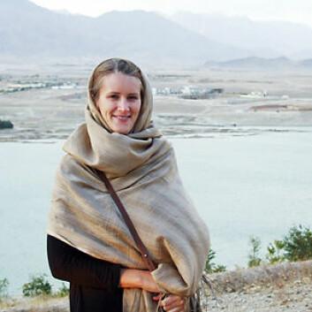 FFI-forsker Anne Stenersen var på feltarbeid i Afghanistan i 2009. (Foto: Anne Stenersen)
