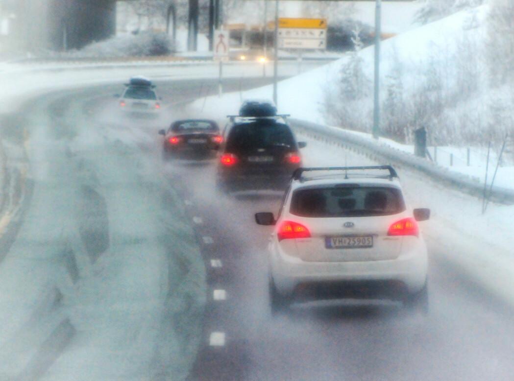 Saltet vintervei i Trøndelag (E6, Malvik).