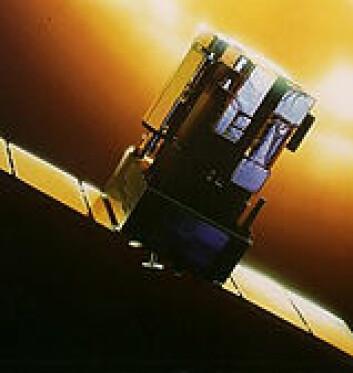 """""""Satellitter som SOHO (ESA/NASA) er nødvendige for å følge utviklingen på sola. (Ill: ESA)"""""""