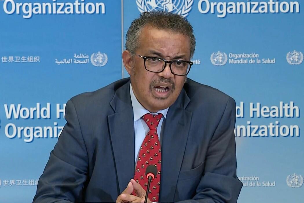 Verdens helseorganisasjon, her ved dagens leder Tedros Adhanom, har ikke klart å spille en like viktig rolle under korona-krisa som under svineinfluensaepidiemien.