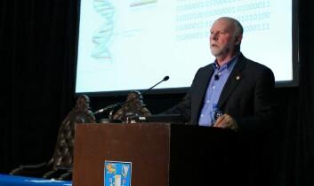"""Craig Venter holdt en oppdatert versjon av Erwin Schrödingers foredrag """"What is Life?"""" i Dublin under forskningskonferansen ESOF2012. Hans hovedbudskap: Fremtiden er digital. (Foto: Maxwell's Dublin/ESOF2012)"""