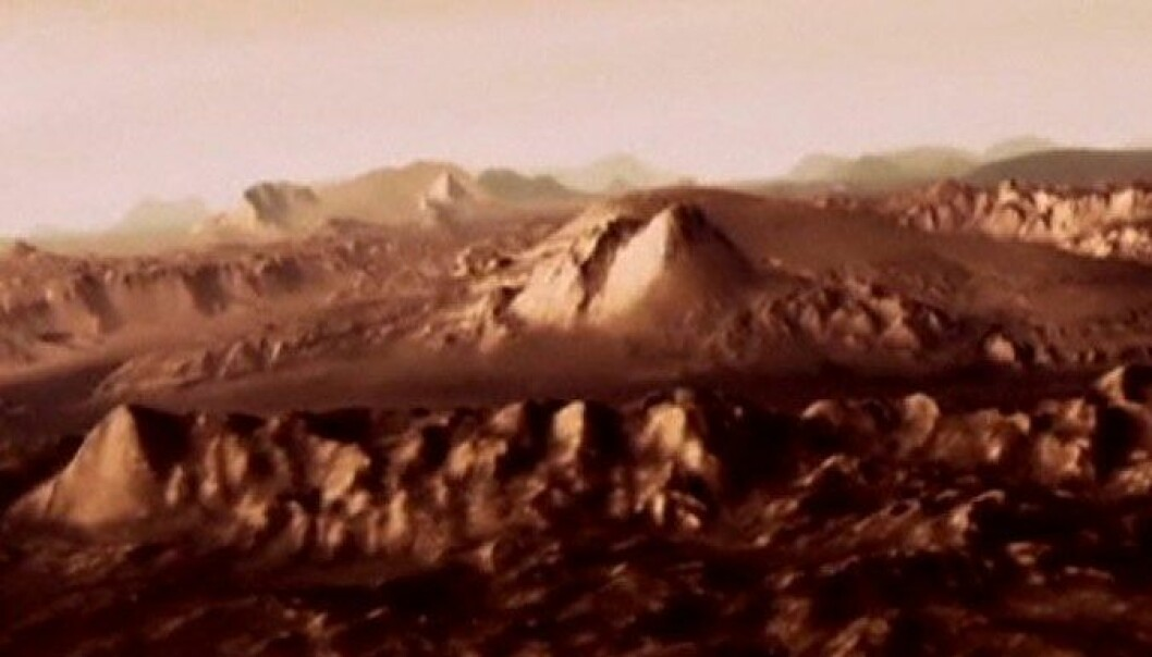 ESA har laget omfattende 3D-grafikk av Mars. Skjermdump/NASA