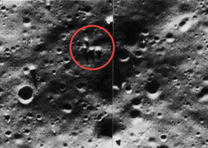 The Blair Cuspids, fotografert av NASA-sonden Lunar Orbiter i 1966. (Foto: NASA)