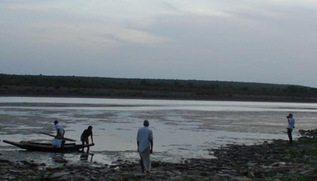 Bredden av elva Krishna, Nalgonda district, Andhra Pradesh. Asle Rønning