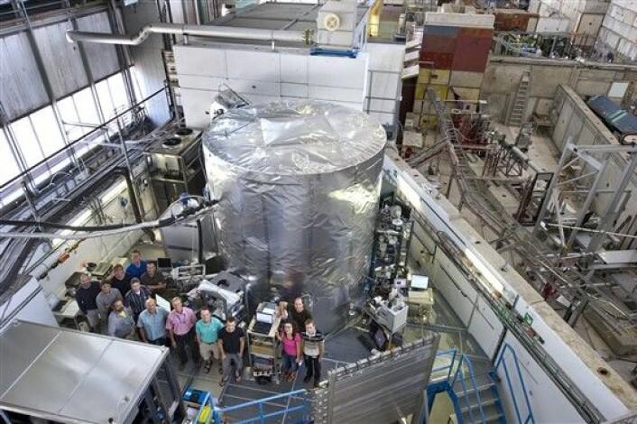 Skykammeret sett fra utsiden. (Foto: CERN/Maximilien Brice)