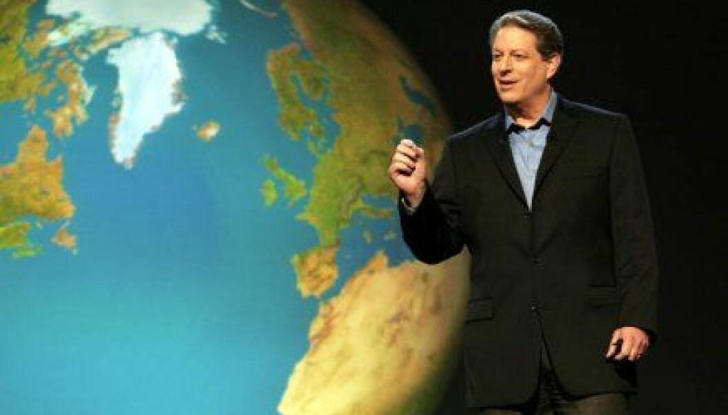 """""""Filmen An Inconvenient Truth handler mye om hvordan Al Gore holder foredrag om klima. Det viser seg at han ikke hadde alle faktaene helt på plass.(Foto: United International Pictures)"""""""