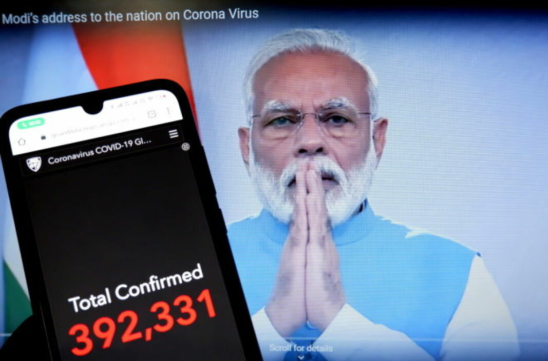 Lockdown in India 24 March. Prime Minister Narenda Modi taking in the number of deaths and further tightening anti-coronavirus measures.