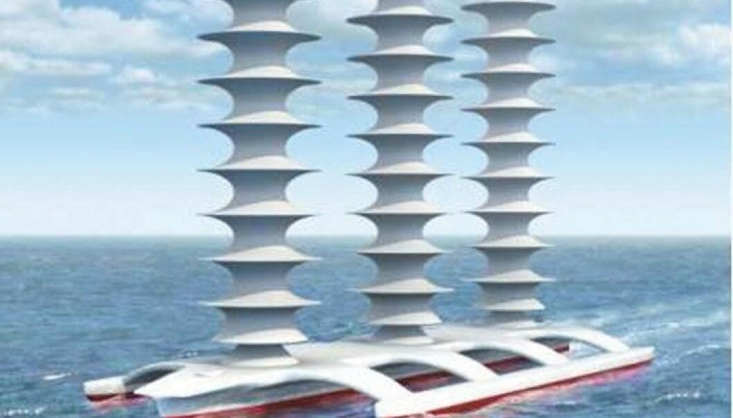 Ubemanna skip som sprøyter sjøsaltpartiklar inn i skyene kan bli nytta til å dempe global oppvarming i framtida. John MacNeill, University of Washington