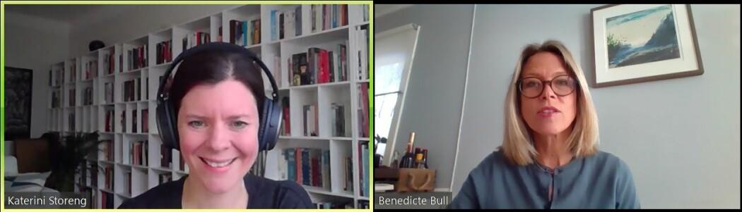 Katerini Storeng snakker med Benedicte Bull om WhatsApp og pandemien.