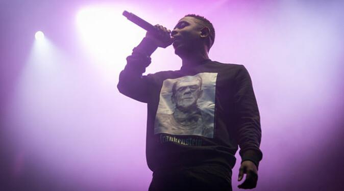 Rapperen Kendrick Lamar, her på Øyafestivalen i 2013.