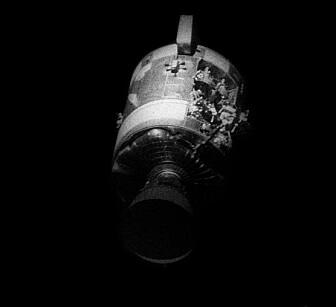Astronautene så ikke skadene før etter de hadde separert fra Service-modulen