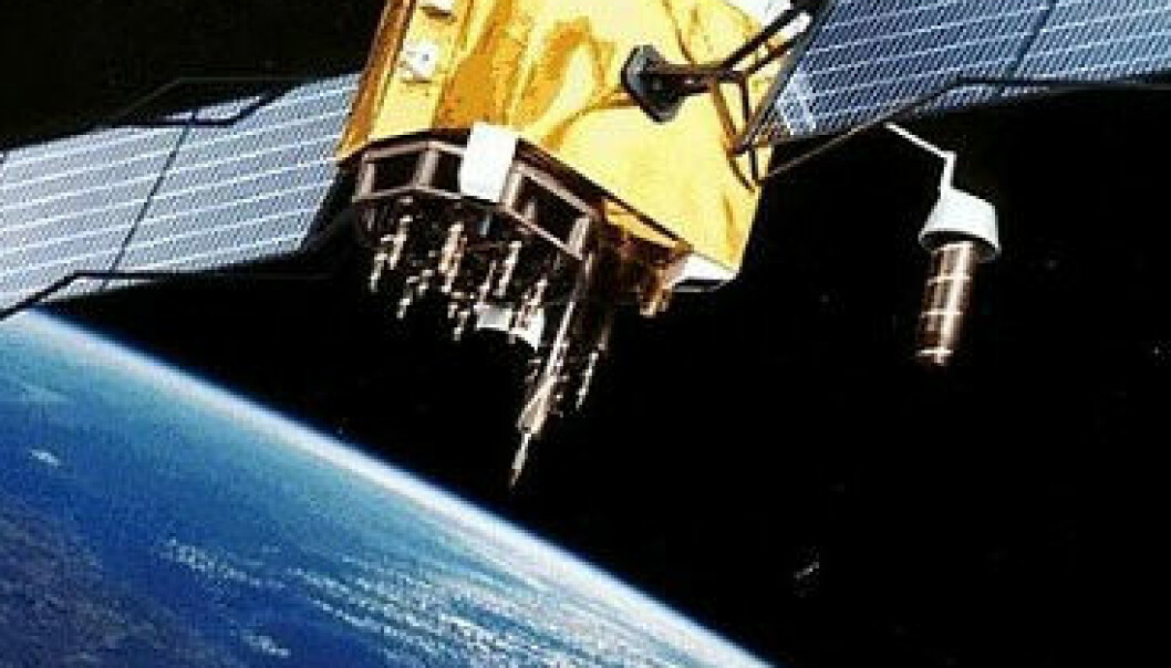 Kina vil gjøre seg mindre avhengig av det amerikanske GPS-systemet, og er i full gang med å opprette sitt eget navigasjonssystem. Bildet viser en artists tolkning av en GPS-satellitt. NASA