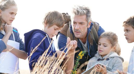 Om ikke læreren kjenner dyr og planter, hvem skal da fortelle barnehagebarna om naturen?