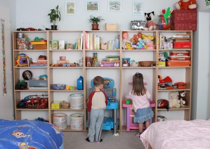 Barnerommet - lekerom og soverom. (Foto: Colourbox)