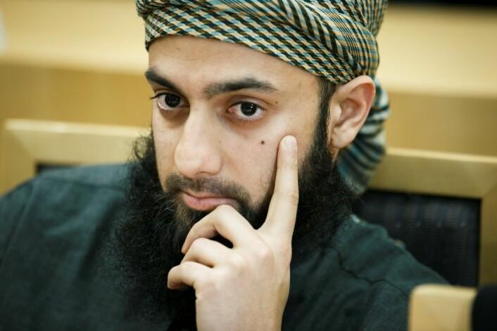 Ubaydullah Hussain er blant annet tiltalt for hatefulle ytringer etter at han skal ha hetset Amal Aden for hennes homofile legning. Dommen faller 7. februar i år. (Foto: Heiko Junge/ NTB scanpix)