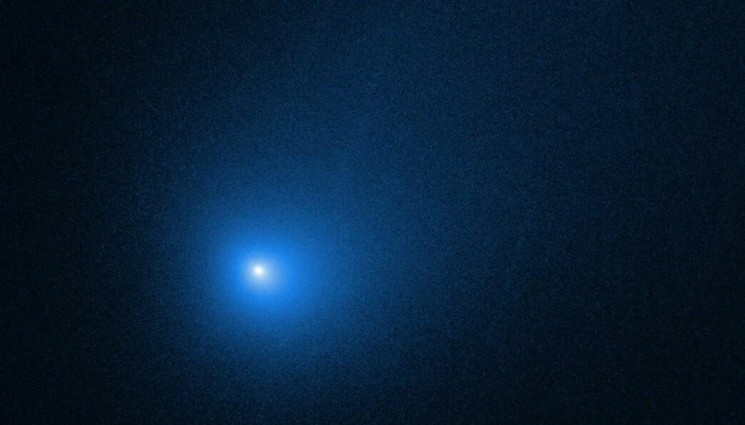 Kometen 2I/Borisov, sett av Hubble-teleskopet i desember 2019.