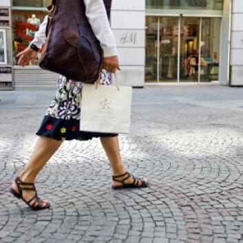 Shopping kan gi deg en god opplevelse, men er ikke nødvendigvis fordelaktig for genuttrykket ditt. (Foto: Colourbox)