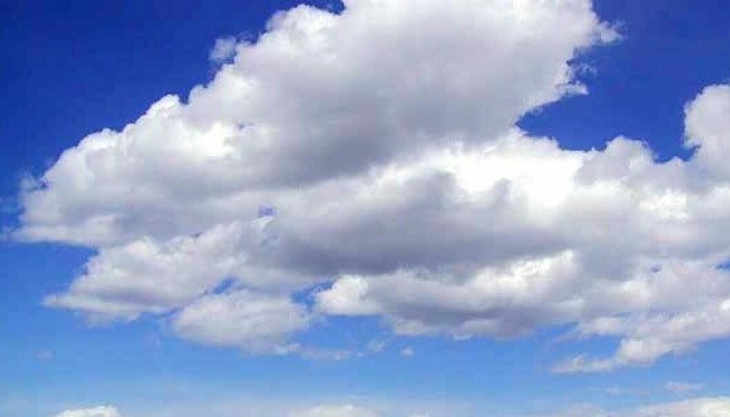 Cumulusskyer kalles godværsskyer. Wikimedia Commons