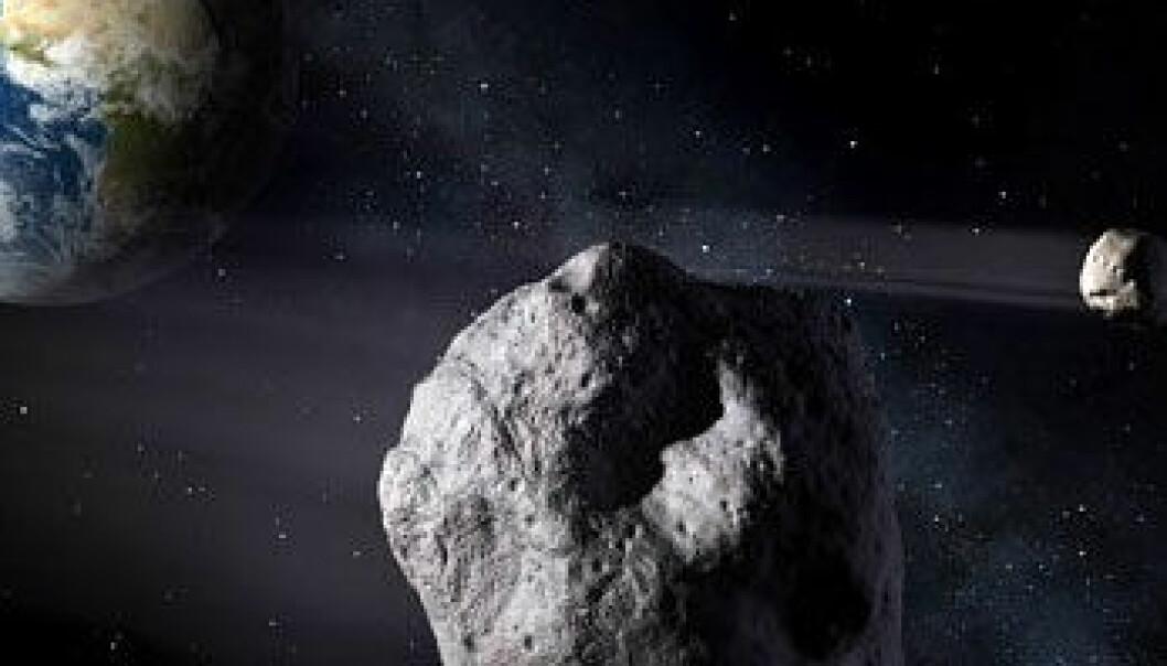 """E-seil egner seg godt til å """"hoppe"""" fra asteroide til asteroide, fordi seilene kan styres. De kan også brukes til å avbøye asteroider slik at de ikke kolliderer med jorda. ESA- P. Carill"""