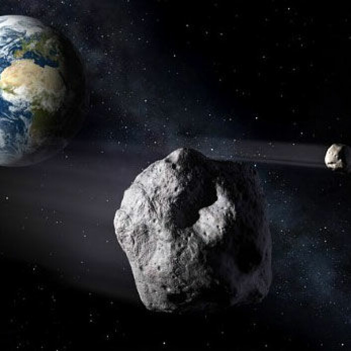"""E-seil egner seg godt til å """"hoppe"""" fra asteroide til asteroide, fordi seilene kan styres. De kan også brukes til å avbøye asteroider slik at de ikke kolliderer med jorda. (Foto: ESA- P. Carill)"""
