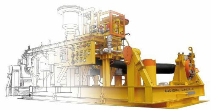 En offshore subsea-komponent kalt en «Riser Base» går fra skisse til CAD-modell og ferdig produkt. (Foto: (Illustrasjon: Jotne))