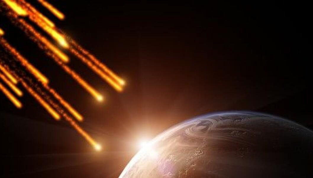 Slik blir meteorittar til