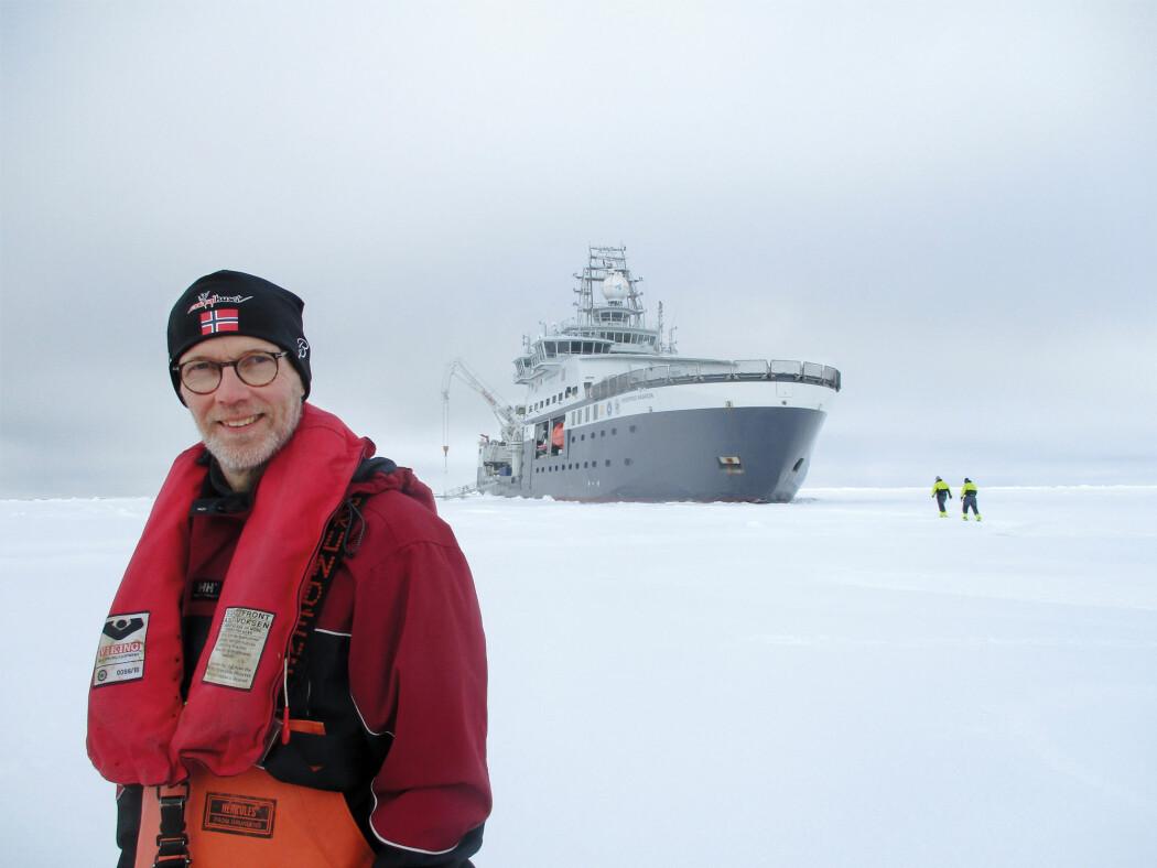 Leif Christian Stige var tre uker på tokt med forskningsfartøyet Kronprins Haakon for å undersøke marinbiologien i de nordlige områdene i Barentshavet.