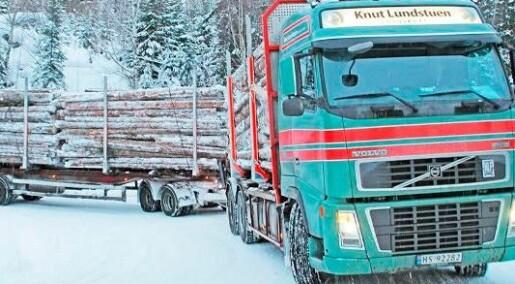 Tømmerbilene gir mest CO2-utslipp i skogbruket