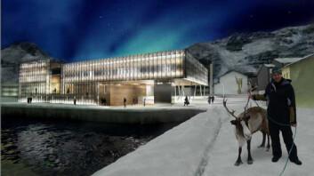 """""""De forurensede sedimentene er blitt til en verdifull strandtomt. Arktisk kultursenter i Hammerfest skal stå klart til bruk høsten 2008. (Ill. fra http://www.hammerfest.kommune.no)."""""""