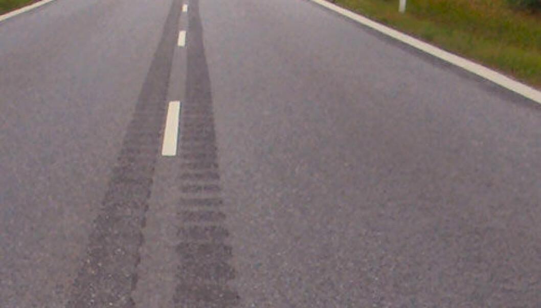 Rumlefelt frest ut i midten av en dansk vei. Lcl/Wikimedia Commons
