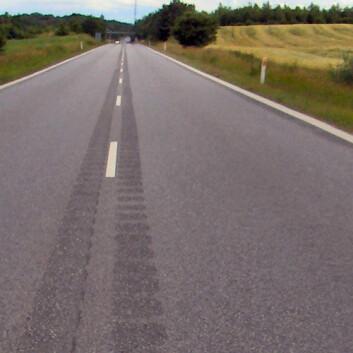 Rumlefelt frest ut i midten av en dansk vei. (Foto: Lcl/Wikimedia Commons)