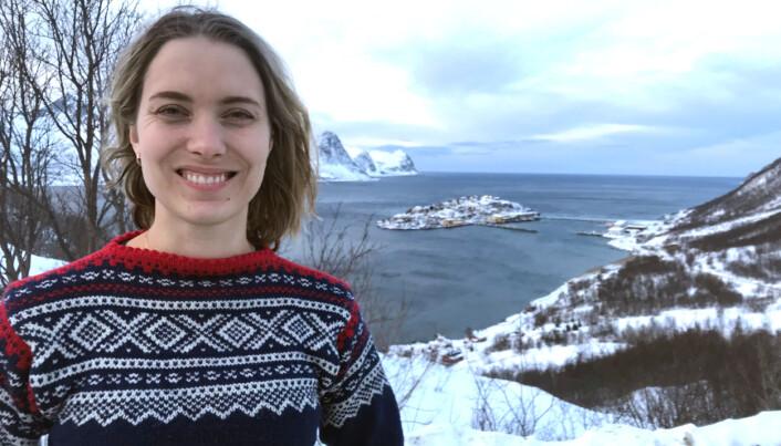 Stipendiat Inger Helene Svartdal tar doktorgrad på Senja-prosjektet.