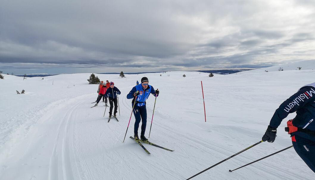Å bytte på hva man trener er selve clouet for å finslipe teknikken, og prinsippet kan brukes på alt fra ski til... det meste, mener Christian Magelssen, Thomas Losnegard og Per Haugen. Fra en treningssamling i regi av NIH på fjellet ved Ål.
