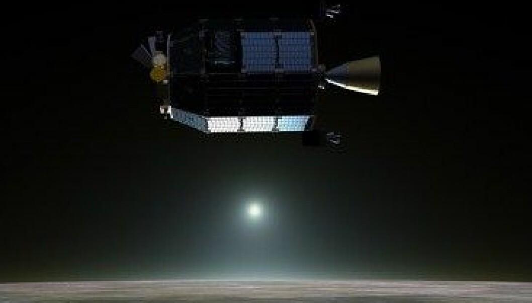 Romsonden LADEE som blir skoten opp i september skal samle støv frå månens atmosfære. NASA Ames / Dana Berry