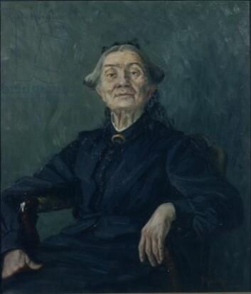 For kvinnesakspioneren Aasta Hansteen var religionen en kilde til frigjøring. (Foto: (Maleri: Marie Hauge / Drammen museum))