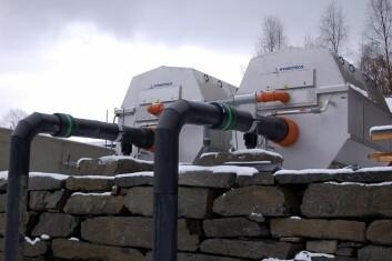 Avløpsvannet filtreres for partikler som kan brukes til gjødsel eller som biomasse i energiproduksjon. (Foto: Geir Helge Johnsen)