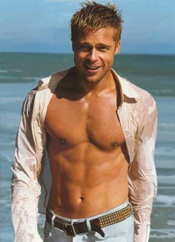 Hvem ønsker seg ikke en slank og muskuløs kropp a la Brad Pitt? (Foto: www.flixter.com)