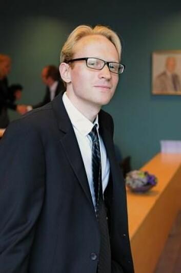 Johannes Mauritzen disputerte nylig ved NHH. (Foto: Sigrid Folkestad)