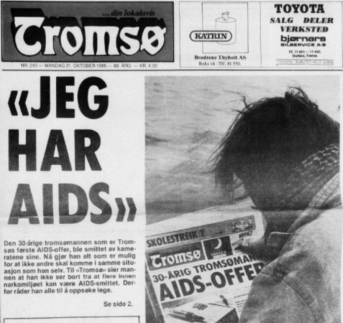 En Tromsø-mann var en av de første som sto fram og fortalte at han hadde fått aids. Parallelt med epidemien startet mediene en ny måte å dekke sykdom på med et fokus på pasienten, mener Elisabeth Jakobsen.