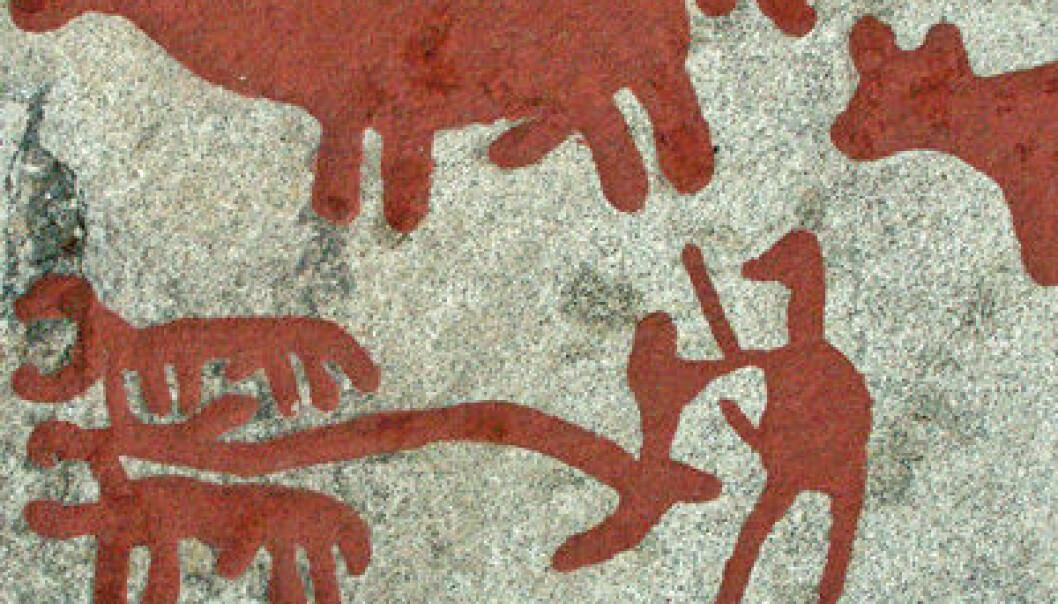 Helleristning fra Aspberget, Tanum i Bohuslän. Wikimedia Commons