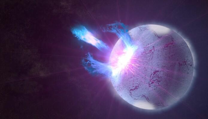 Et utbrudd fra en magnetar.