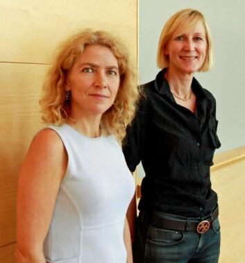 Jorunn Økland og Aud V. Tønnessen. (Foto: Ingrid Wreden Kåss)