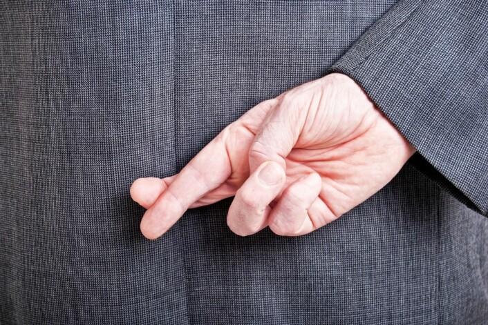 Løgneres hjerne arbeider under høytrykk, og det kan man utnytte. Få dem til fortelle historien sin baklengs, still uventede spørsmål, eller få dem til å spille djevelens advokat. (Foto: Colourbox)