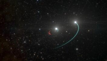 Svart hull skjulte seg mellom stjerner som kan ses fra jorden