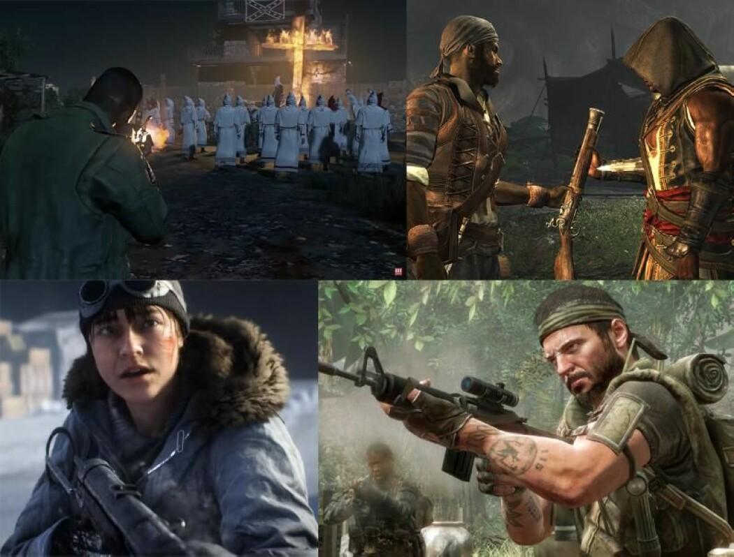 Emil L. Hammar har undersøkt 208 dataspill som handler om en historisk epoke, blant annet spill i seriene Mafia, Assassin's Creed, Battlefield og Call of Duty.