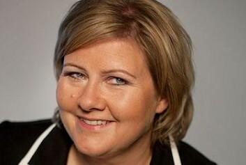 Best i partilederklassen: Høyreleder Erna Solberg. (Foto: Høyre)
