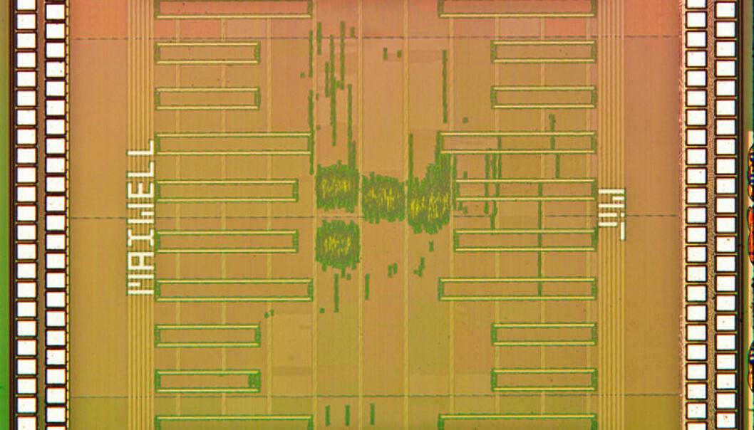 Datachipen fra MIT kan lynraskt og med lavt strømforbruk gi mykere blitzbilder, mindre støy og likevel skarpe detaljer til lyssvake motiver samt lage bilder med høy dynamikk (HDR) også til video. Rahul Rithes, MIT og kolleger