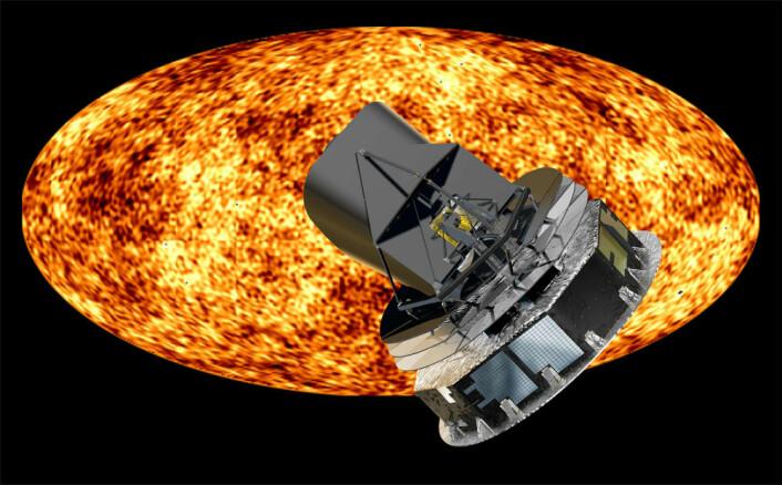 Planck-satellitten har registrert data siden 13. august 2009. De første målingene av den kosmiske bakgrunnsstrålingen er trolig klare i det nye året. (Foto: ESA)