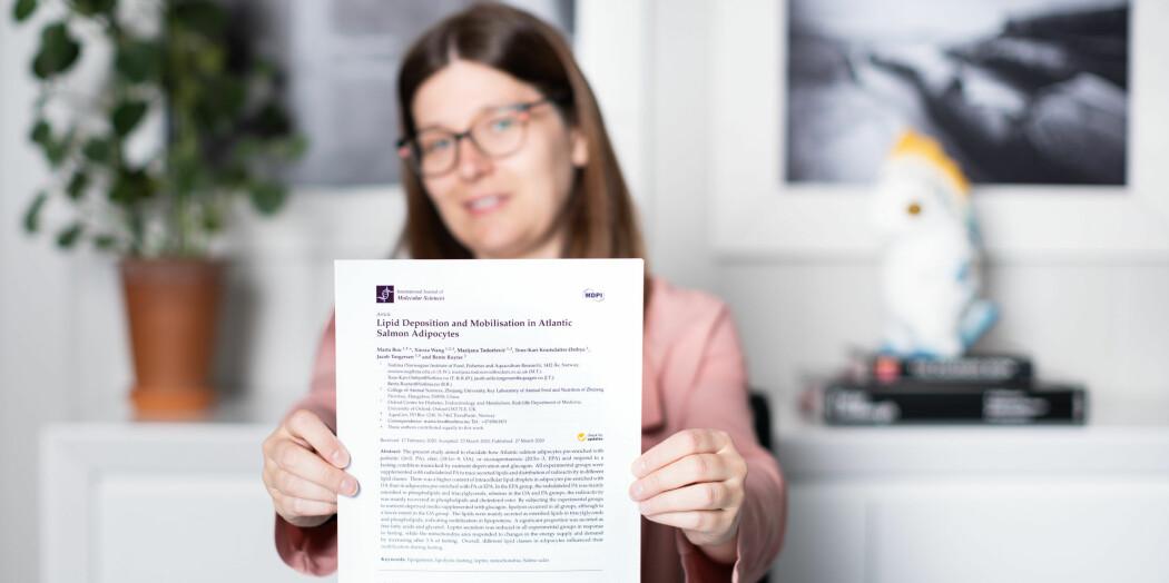 Marta Bou Mira i avdeling Ernæring og fôrteknologi i Nofima, har skrevet artikkelen sammen med Tone-Kari Østbye, Bente Ruyter og tre tidligere kollegaer.