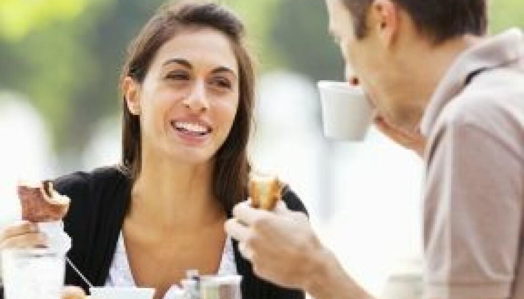 """""""Vi snakket jo bare litt om gamledager over en matbit, hvorfor er det plutsetlig så ille?"""" De sosiale overtonene i det å innta næring gjør et måltid med eksen til et alvorlig svik. Istockphoto"""
